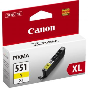 Cartridge Canon CLI-551Y XL, žltá (yellow), originál
