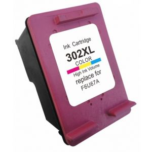 Cartridge HP 302 XL (F6U67AE), farebná (tricolor), alternatívny