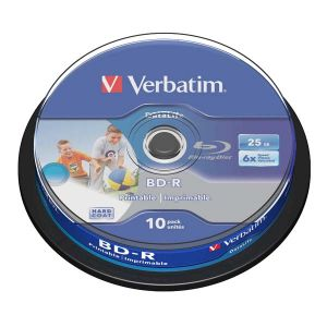 Verbatim BD-R SL, Hard Coat protective layer, 25GB, Pack Spindle, 43804, 6x, 10-pack, pre archiváciu dát
