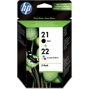 Cartridge HP 21 + 22 (SD367AE), multipack, originál