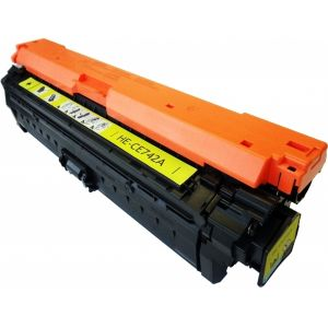 Toner HP CE742A (307A), žltá (yellow), alternatívny