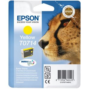 Cartridge Epson T0714, žltá (yellow), originál